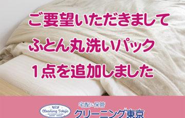 宅配クリーニング ふとん丸洗いパック1点